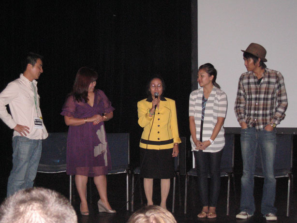 Versailles resident Margret Nguyen answers a question at our New Orleans Film Fest screening
